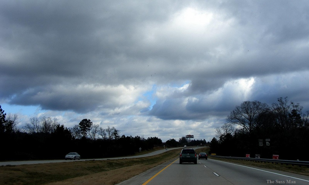cloudy sky near Winder, Georgia